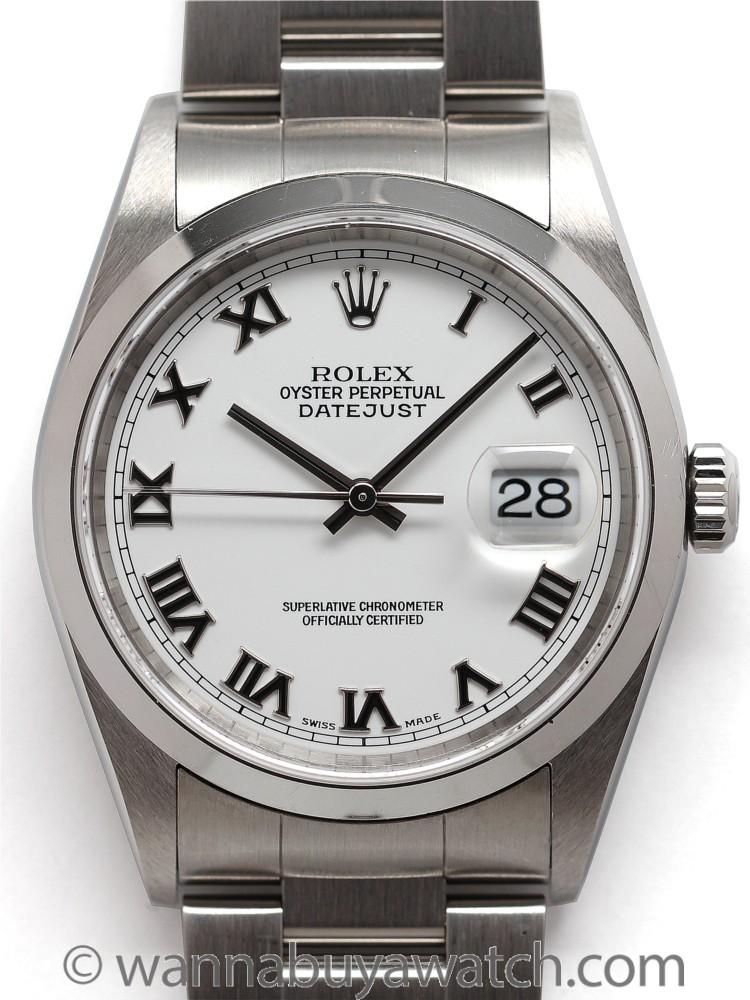 Rolex SS Datejust ref 16200 circa 2001