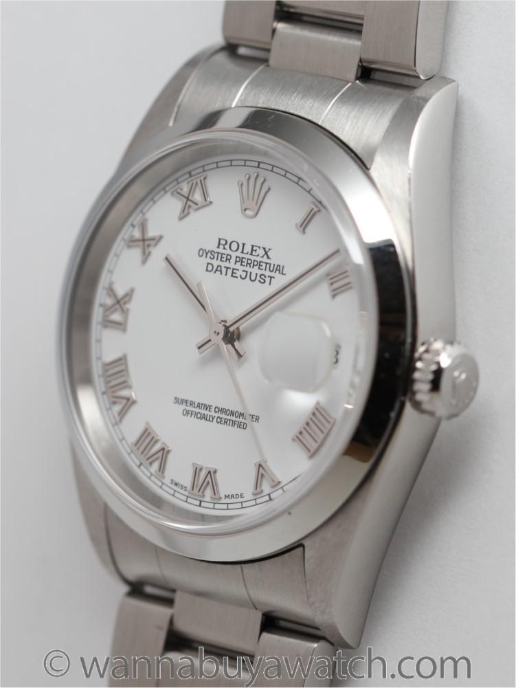 Rolex SS Datejust ref 16200 circa 2005