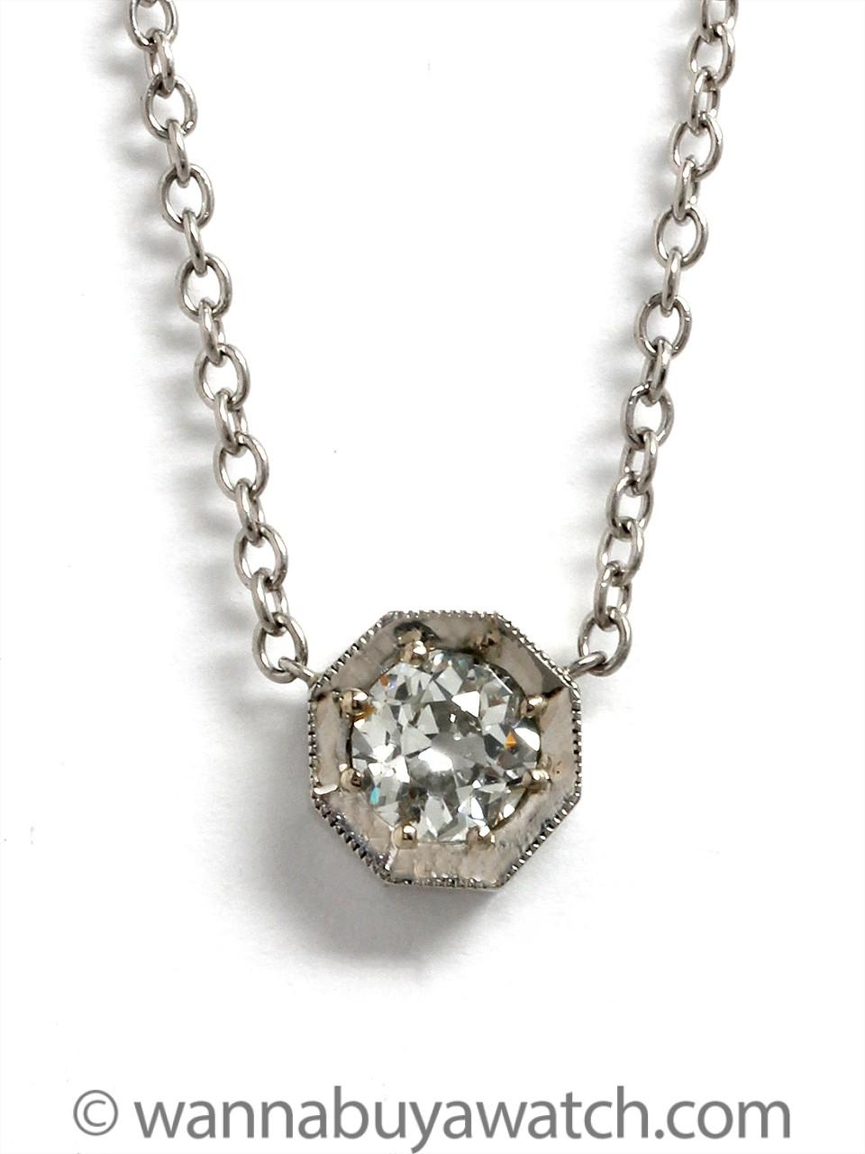 Platinum 0.60ct  Old Mine Cut Diamond