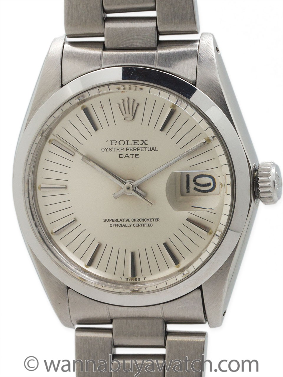 """Rolex SS Oyster Perpetual Date circa 1972 """"Radial Dial"""""""