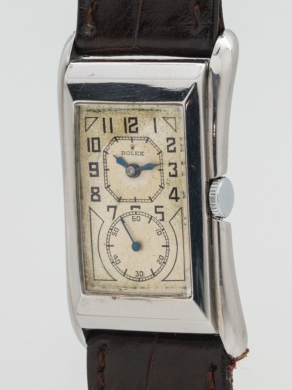 Rolex Prince Branchard ref 1490 Stainless Steel circa 1930's