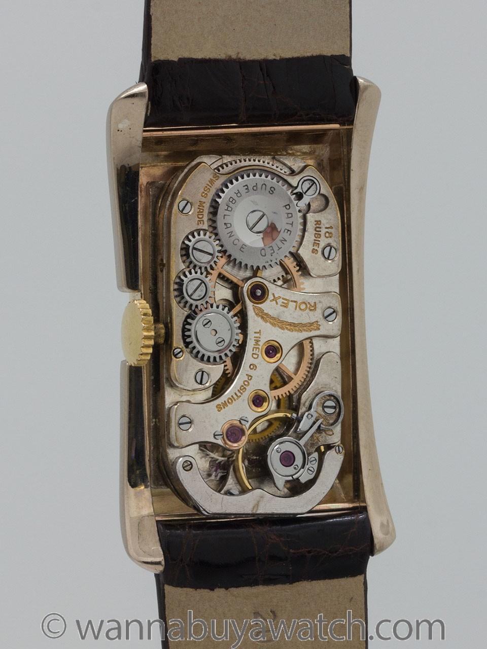 Rolex Prince Doctor's ref 1490 Striped Banchard circa 1930's