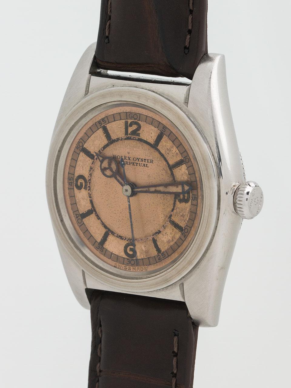 Rolex Bubbleback Original Radium Dial circa 1942