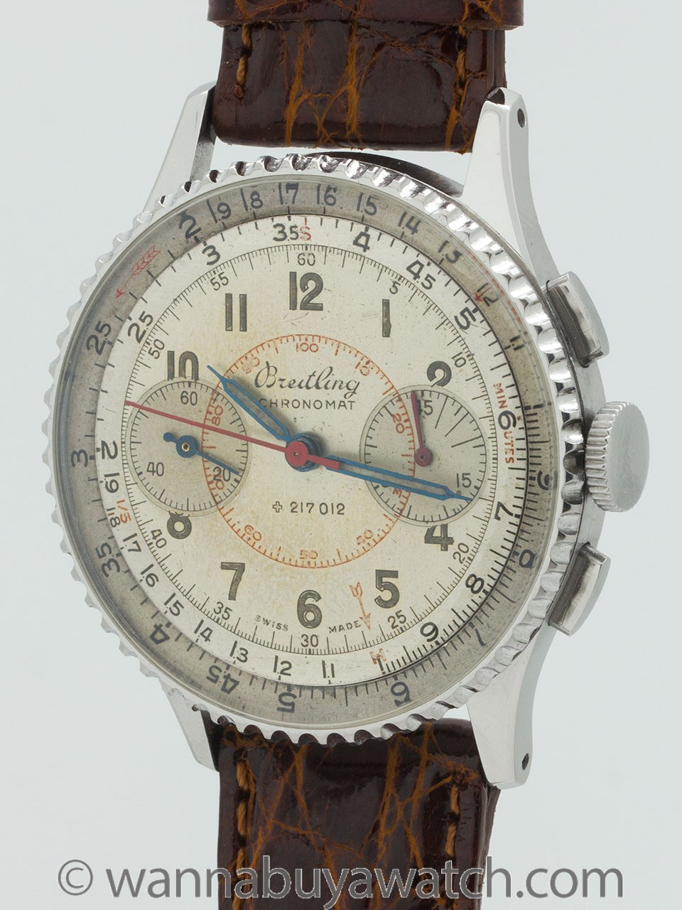 Breitling Chronomat Stainless circa 1950's Original Dial