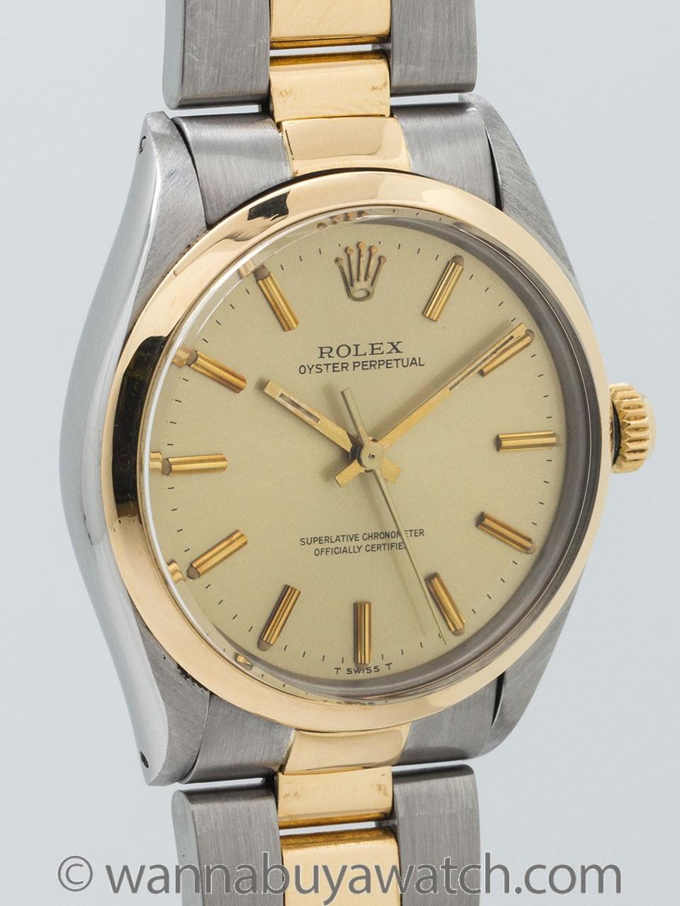 Rolex Oyster Perpetual SS/18K YG ref 1005 circa 1983