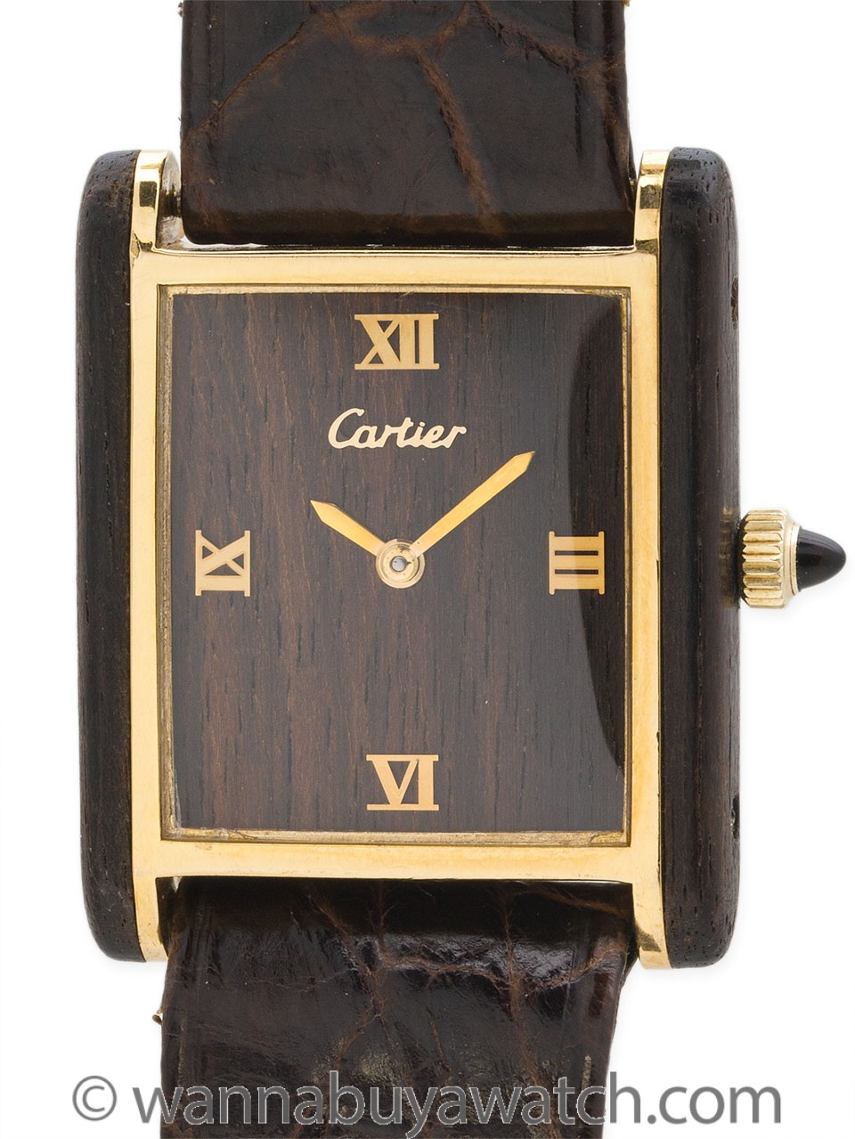 Cartier Tank Louis Man's Wood Case circa 1970's