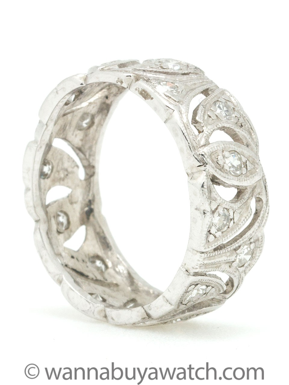 Platinum & Diamond Band Size 6