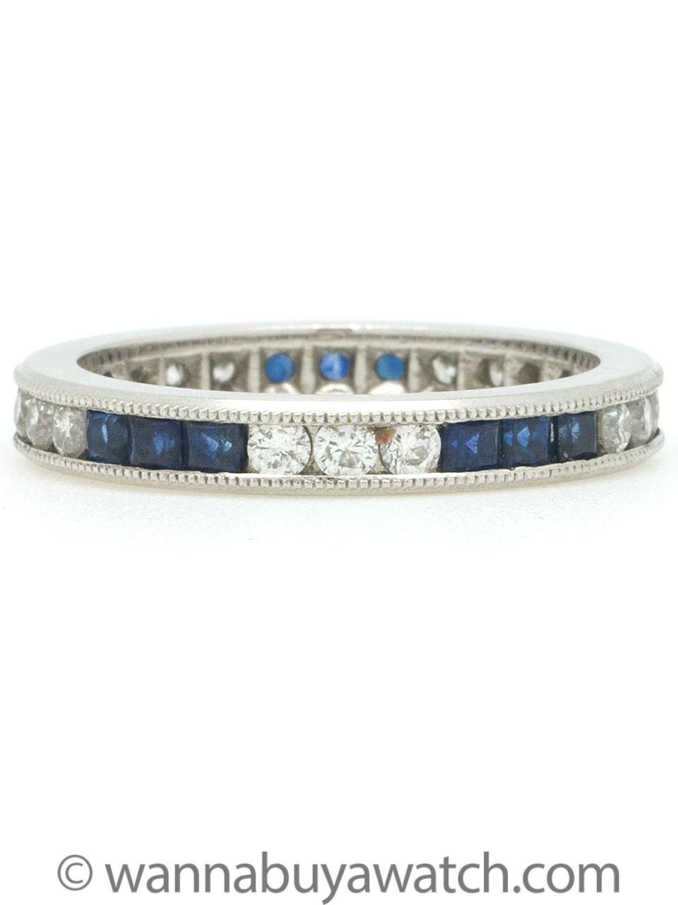 Platinum Diamond & Blue Sapphire