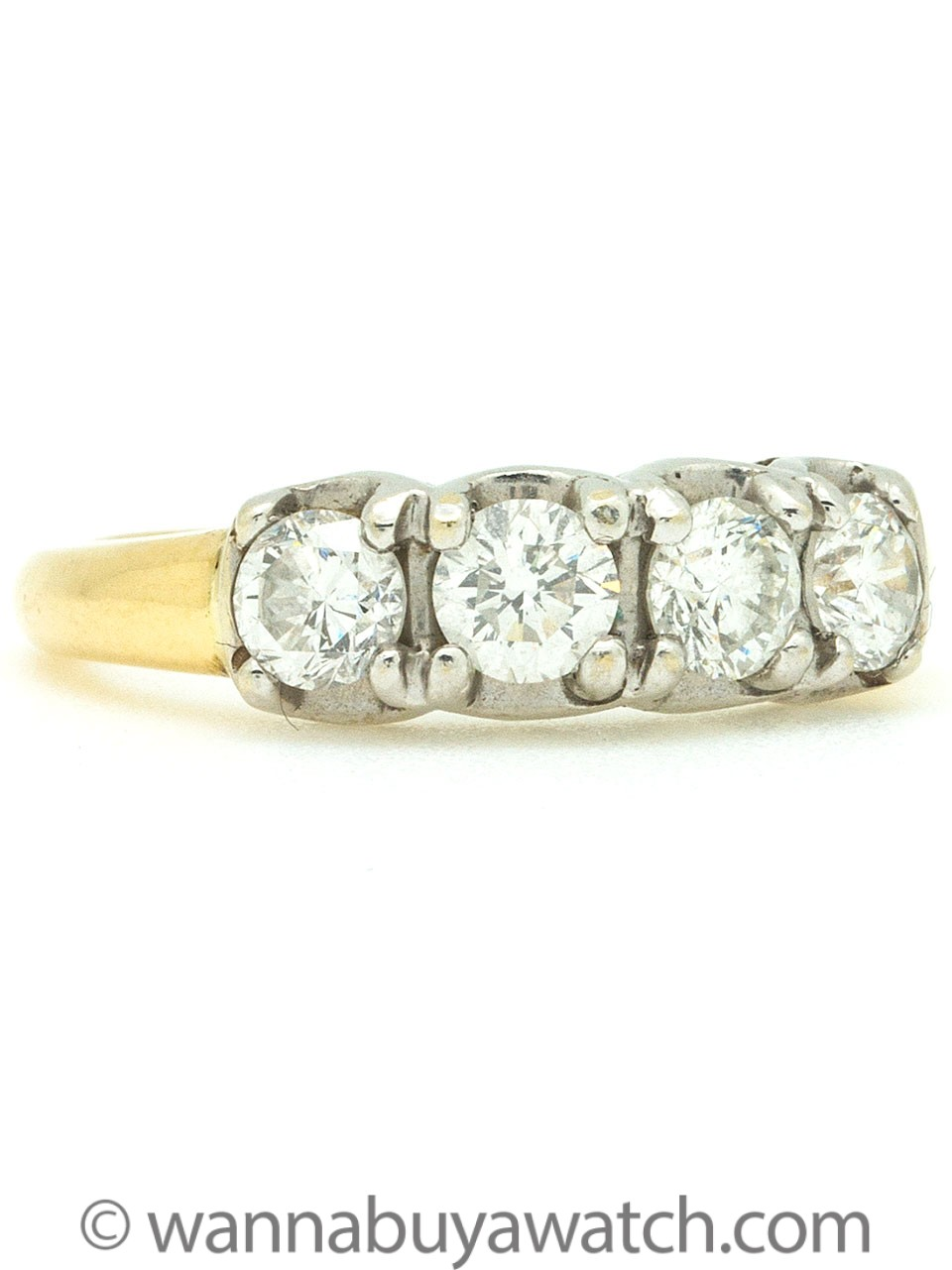 14K YG/18K WG 4 Diamond Band