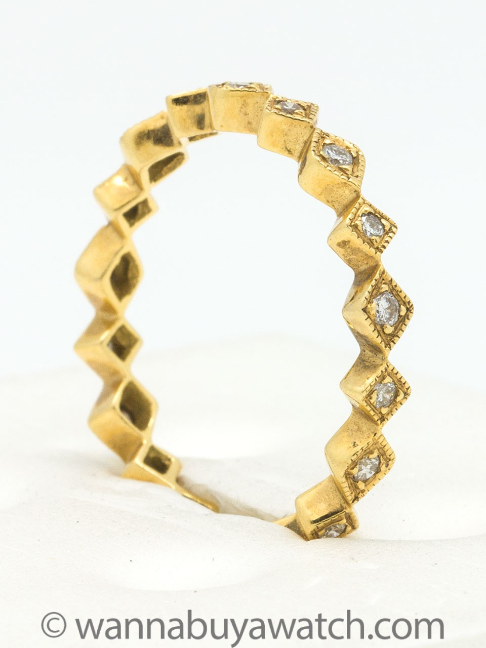 18K Yellow Gold with Diamonds
