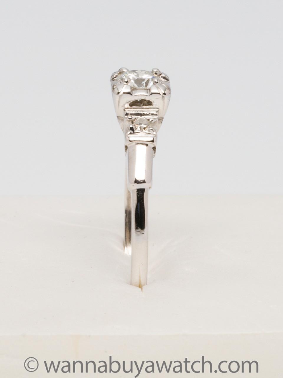 1930's Platinum & 0.35ct OEC Diamond Solitaire