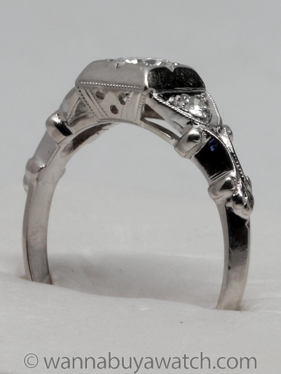 1930's Platinum & 0.30ct Diamond Solitaire