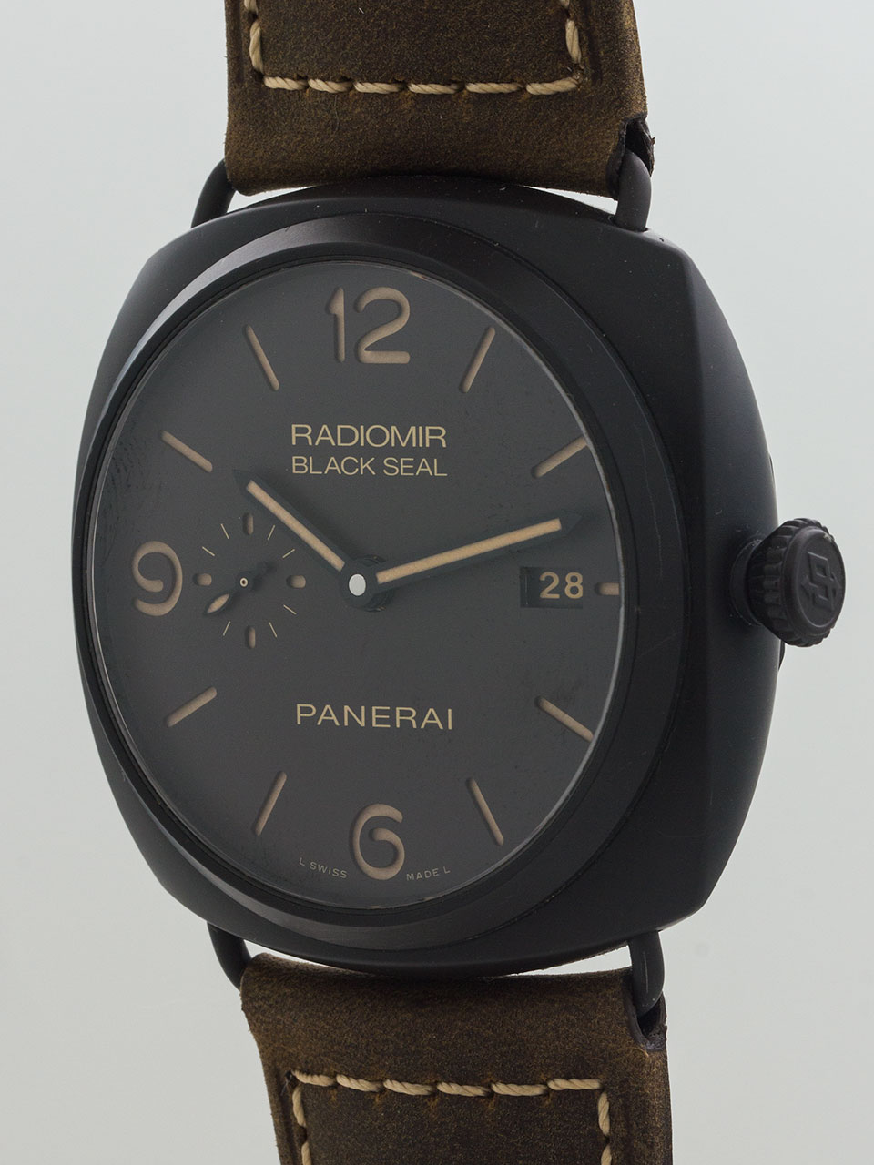 Panerai Radiomir Composite (PVD) Black Seal 3 Day Automatic PAM 00505 B & P