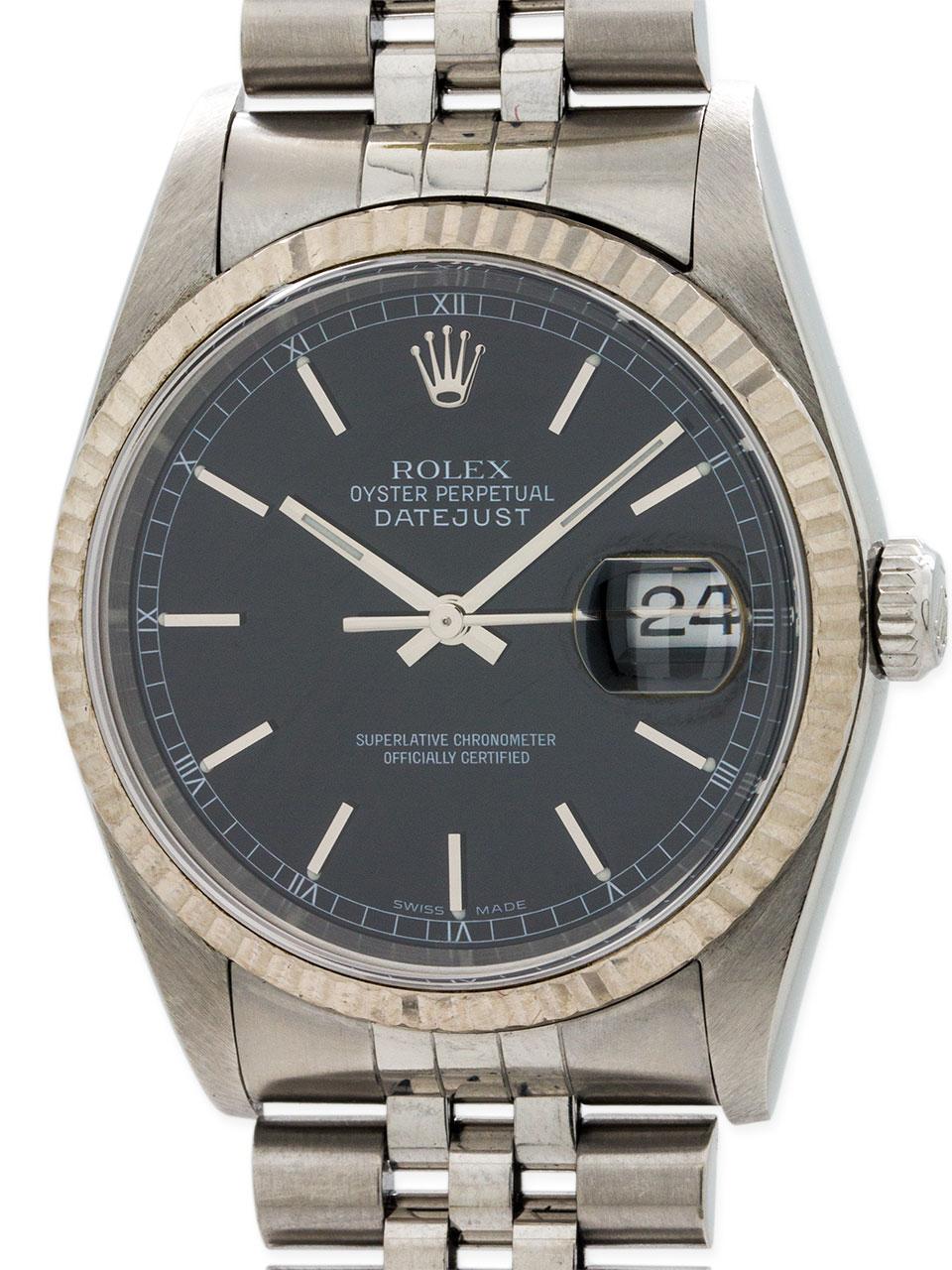 Rolex Datejust ref 16234 Stainless Steel circa 1995