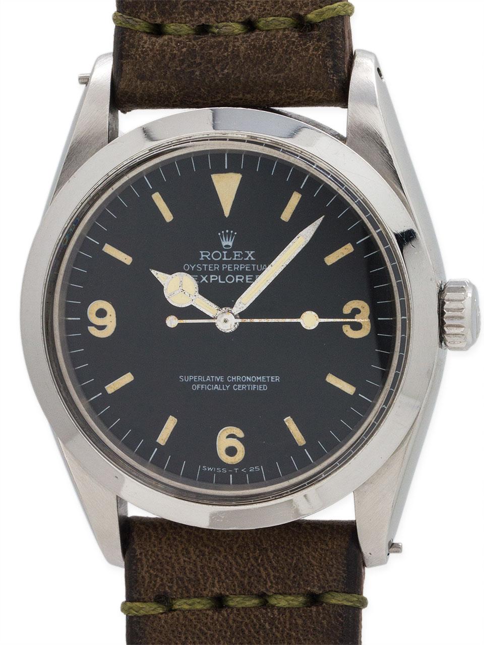 Rolex Explorer 1 ref 1016 Stainless Steel circa 1986