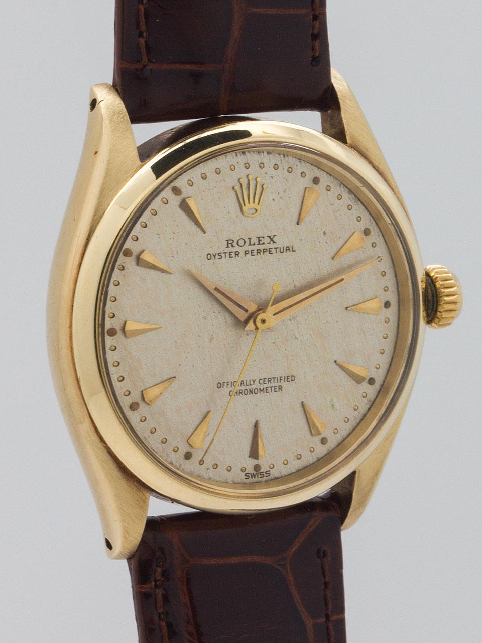 Rolex Oyster Perpetual ref 6564 14K YG circa 1960