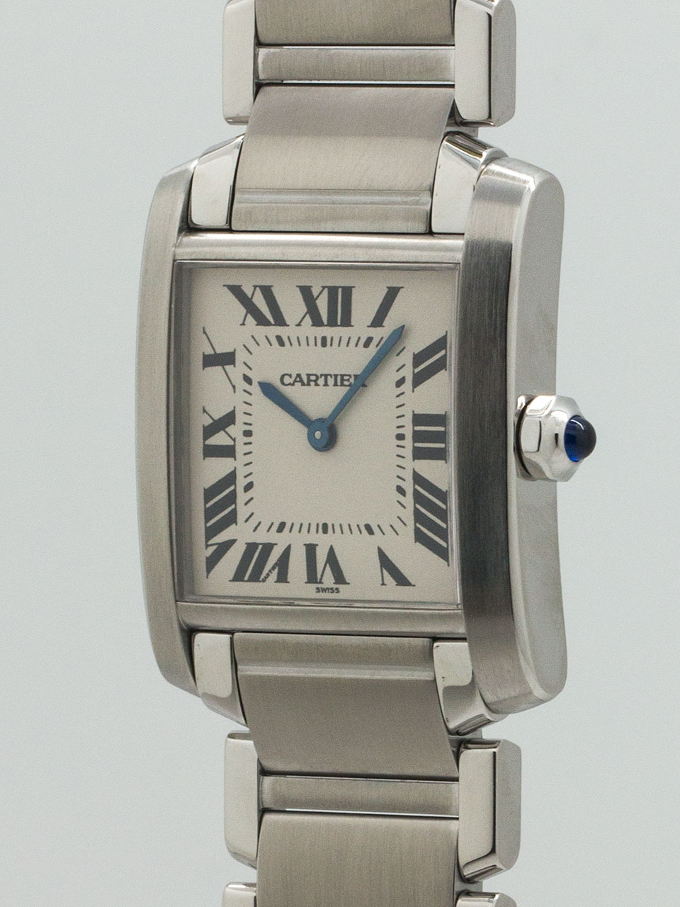 Cartier Tank Francaise Midsize Stainless Steel circa 2000
