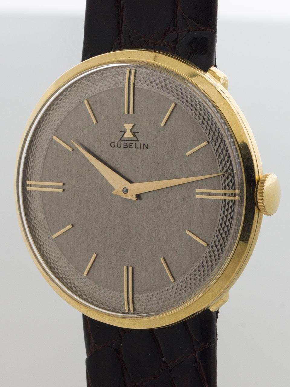 Gubelin Elegant Dress Model 18K circa 1960's