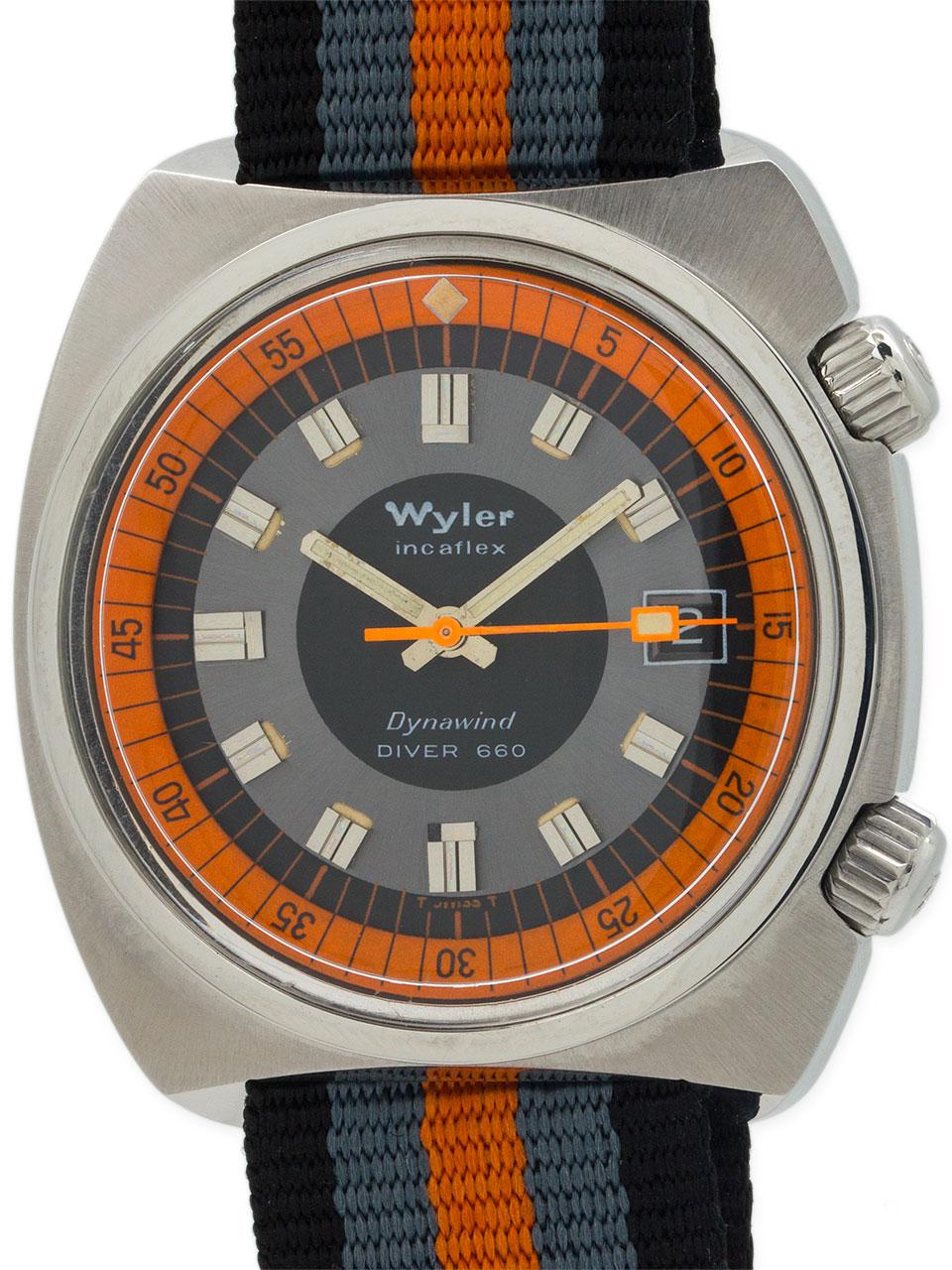 """Wyler Diver 660 """"Dynawind"""" circa 1960"""
