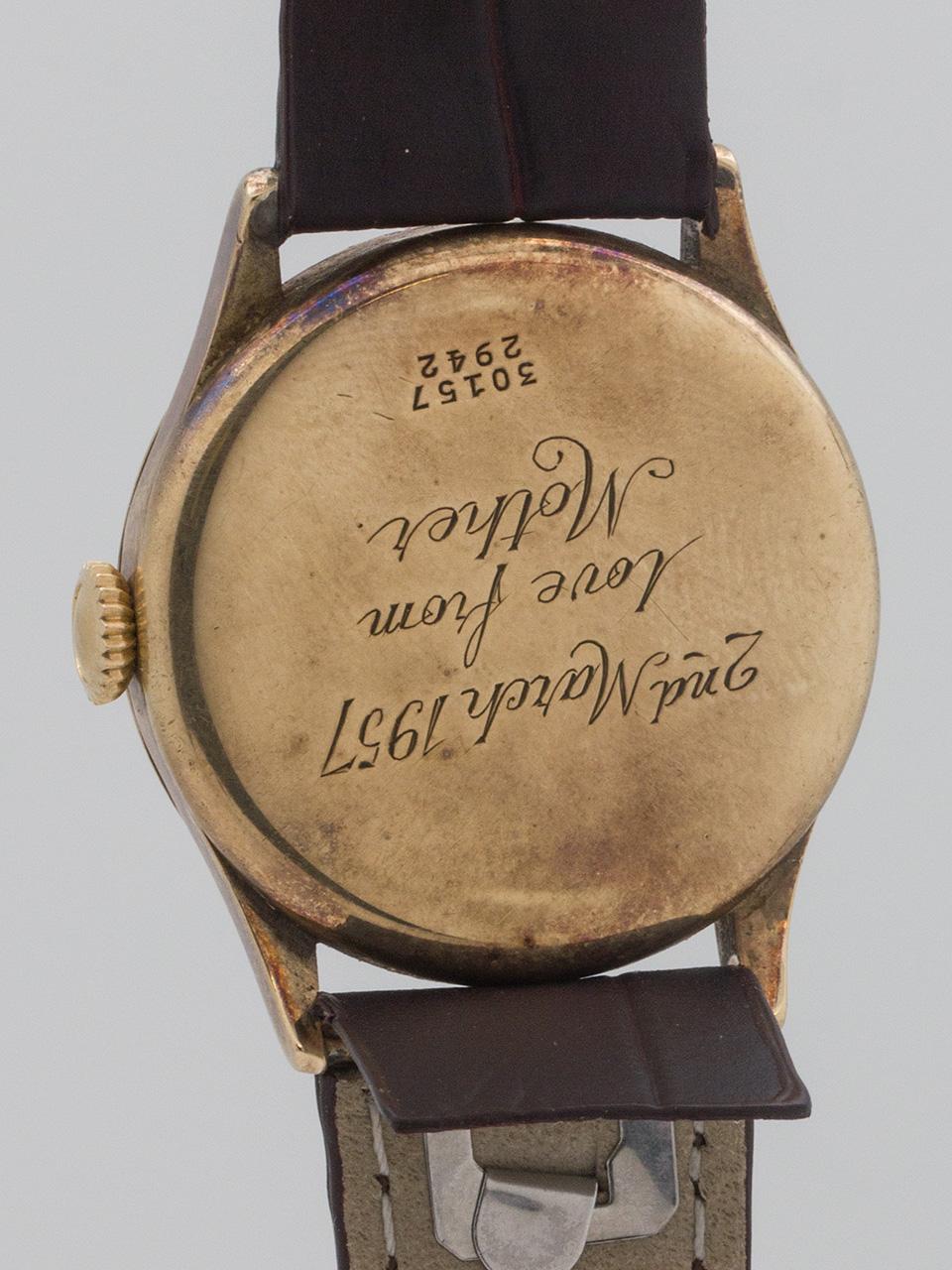 Rare Scientific Enamel Dial Rolex 9K circa 1930's