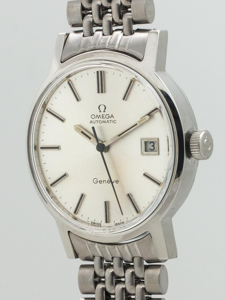 Omega Automatic Geneve circa 1970's Rice Bracelet