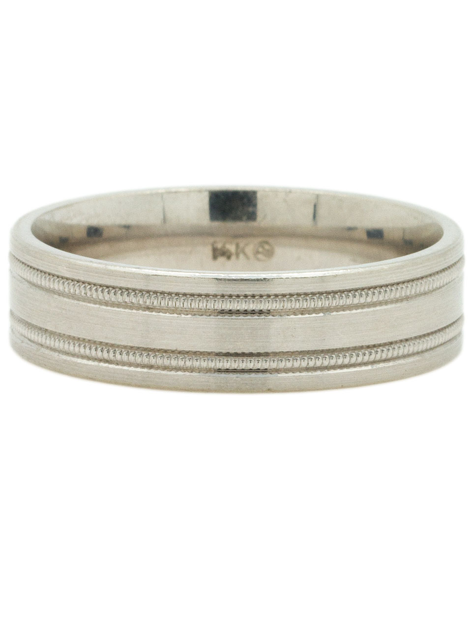 14K WG 6mm Men's Band Size 10