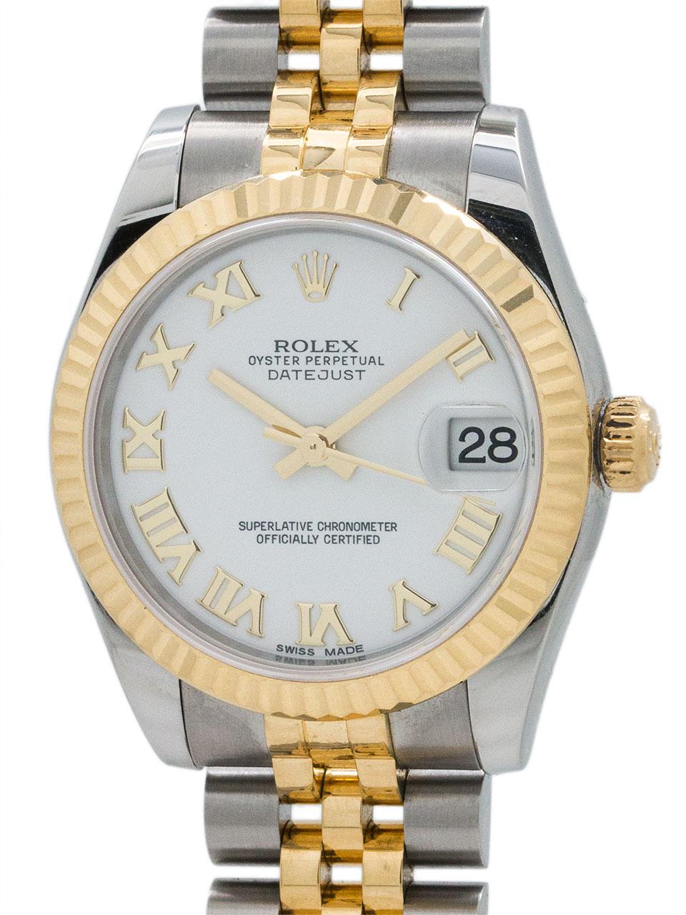 Rolex SS Midsize Datejust ref 178273 SS/18K YG circa 2015