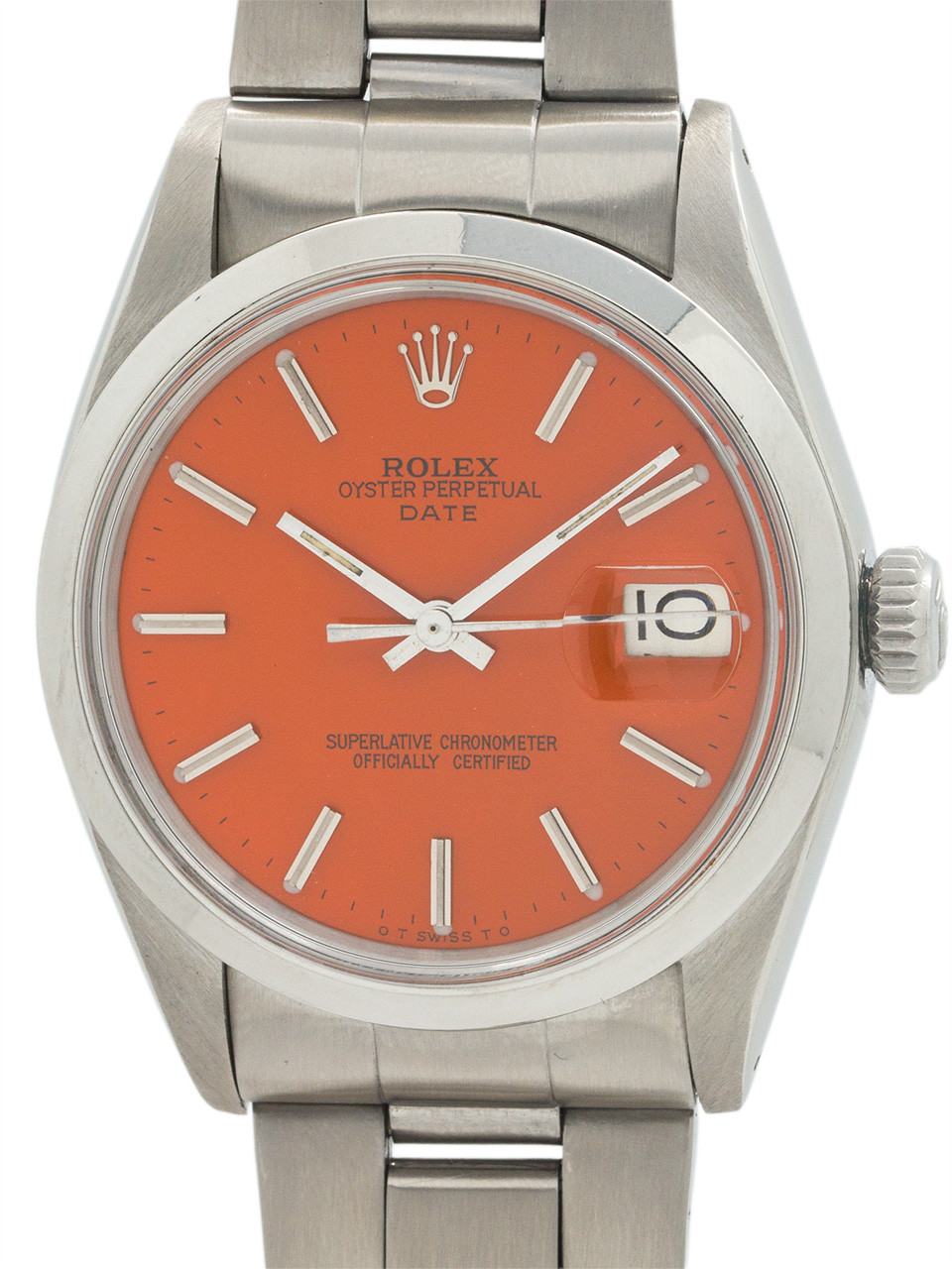 "Rolex Oyster Perpetual Date Stainless Steel circa 1970 ""Valencia Orange"""