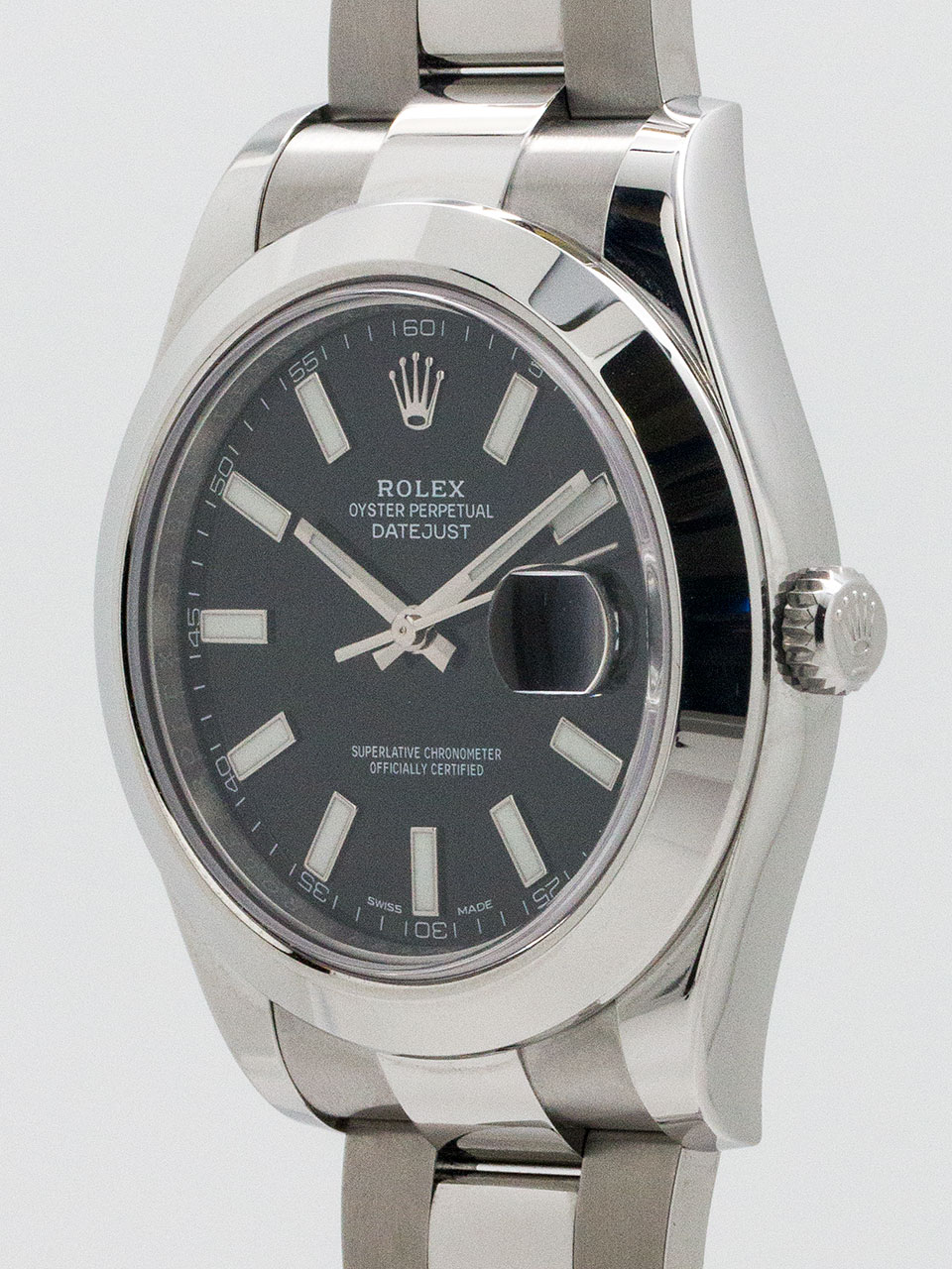 Rolex Datejust II ref# 116300 circa 2015 with Card