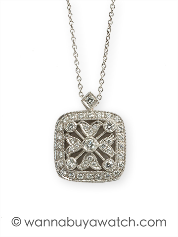 Edwardian 18K White Gold & Diamonds