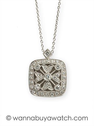 Edwardian 18K White Gold & Diamonds