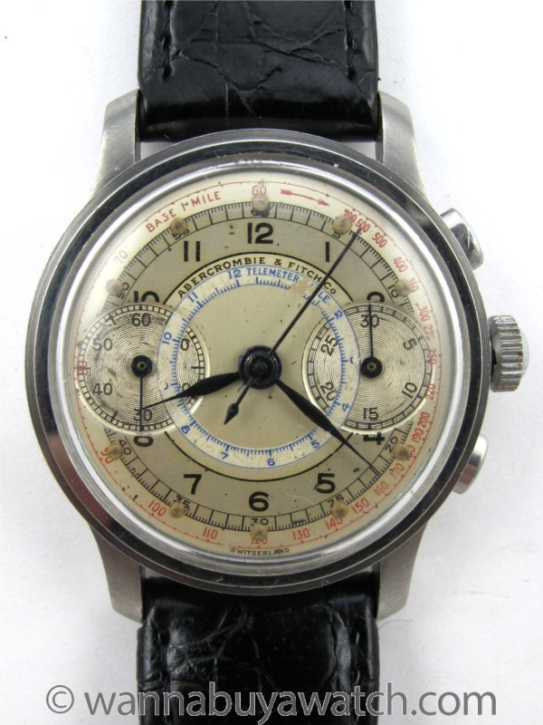 Abercrombie & Fitch Vintage Man's Chronograph circa 1940's