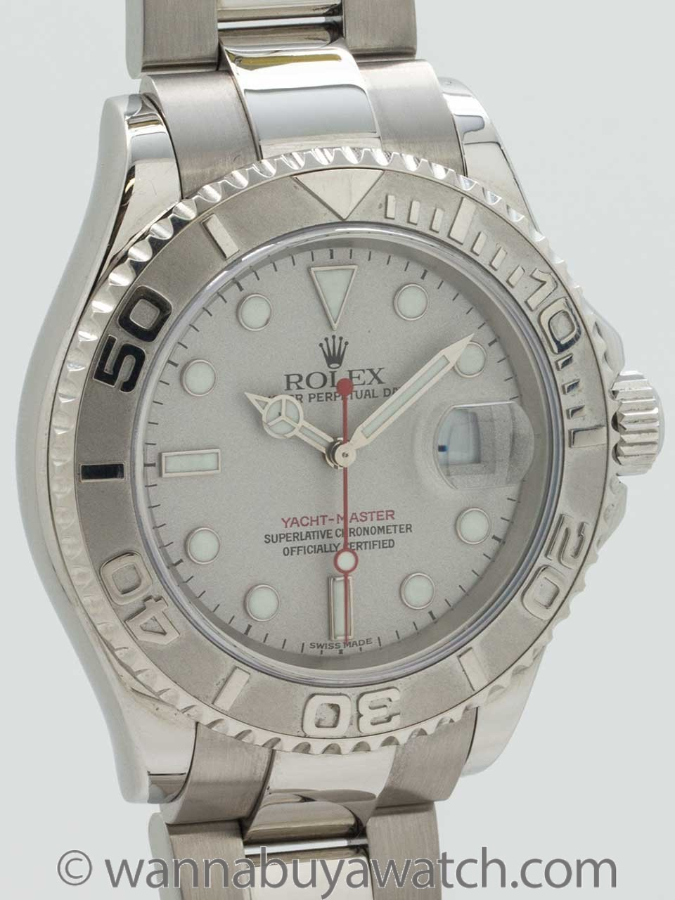 Rolex Man's Platinum Yachtmaster ref 16622 Box & Papers circa 2002