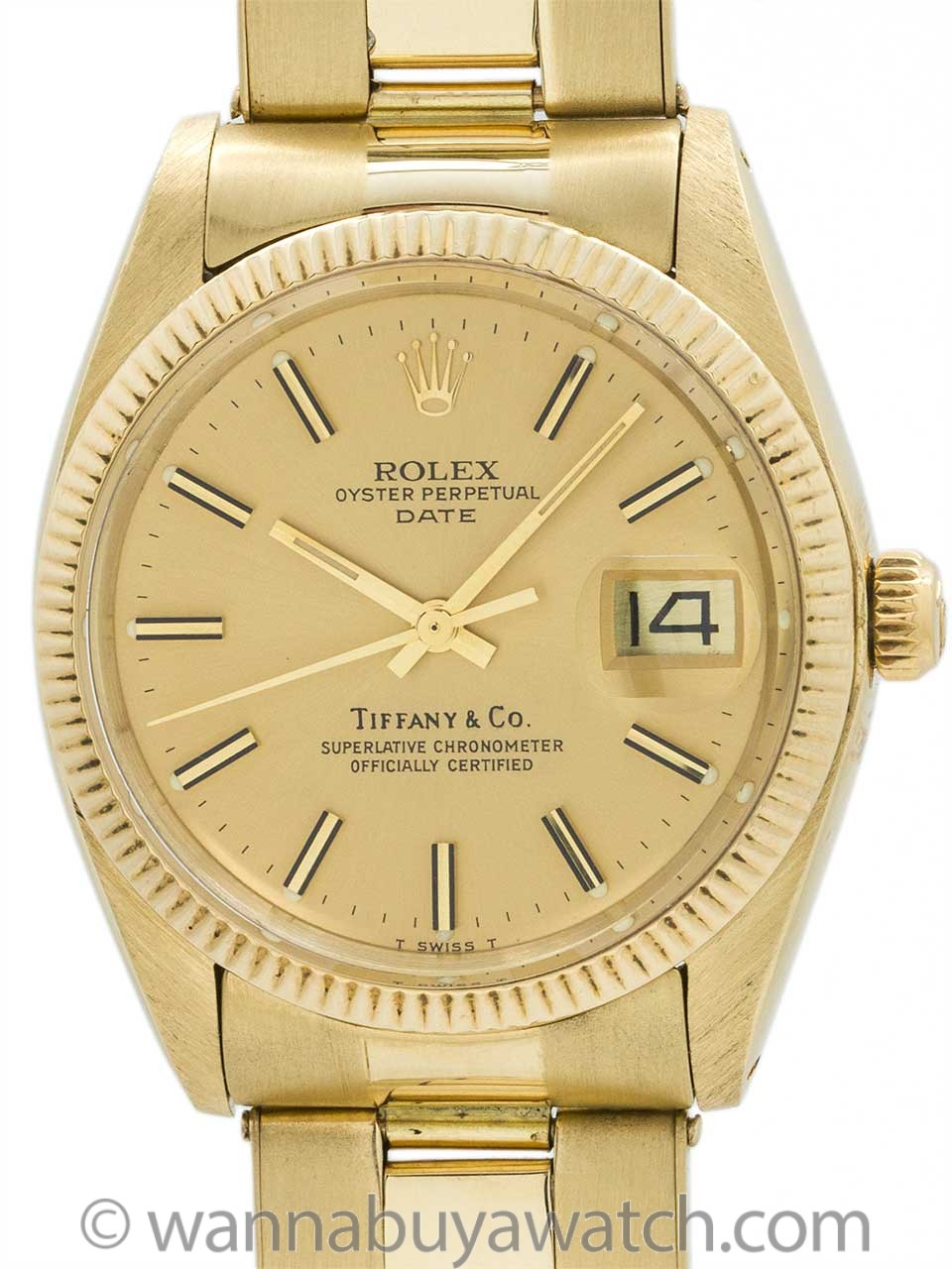Rolex Oyster Perpetual Date Retailed by Tiffany & Co circa 1979