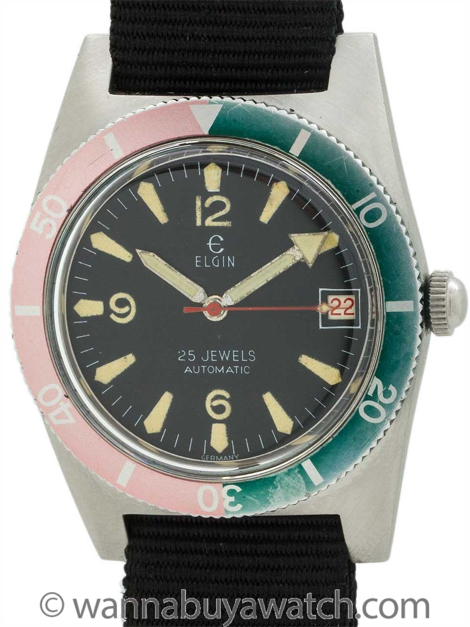 Elgin Diver's Stainless Steel circa 1960's