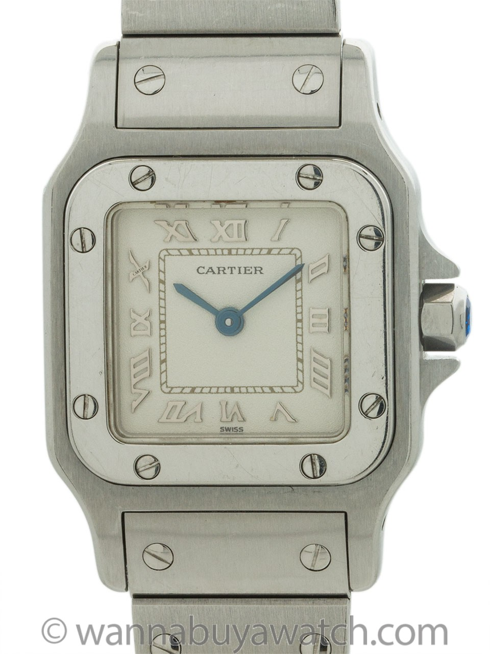Cartier Stainless Steel Lady's Santos circa 2000s