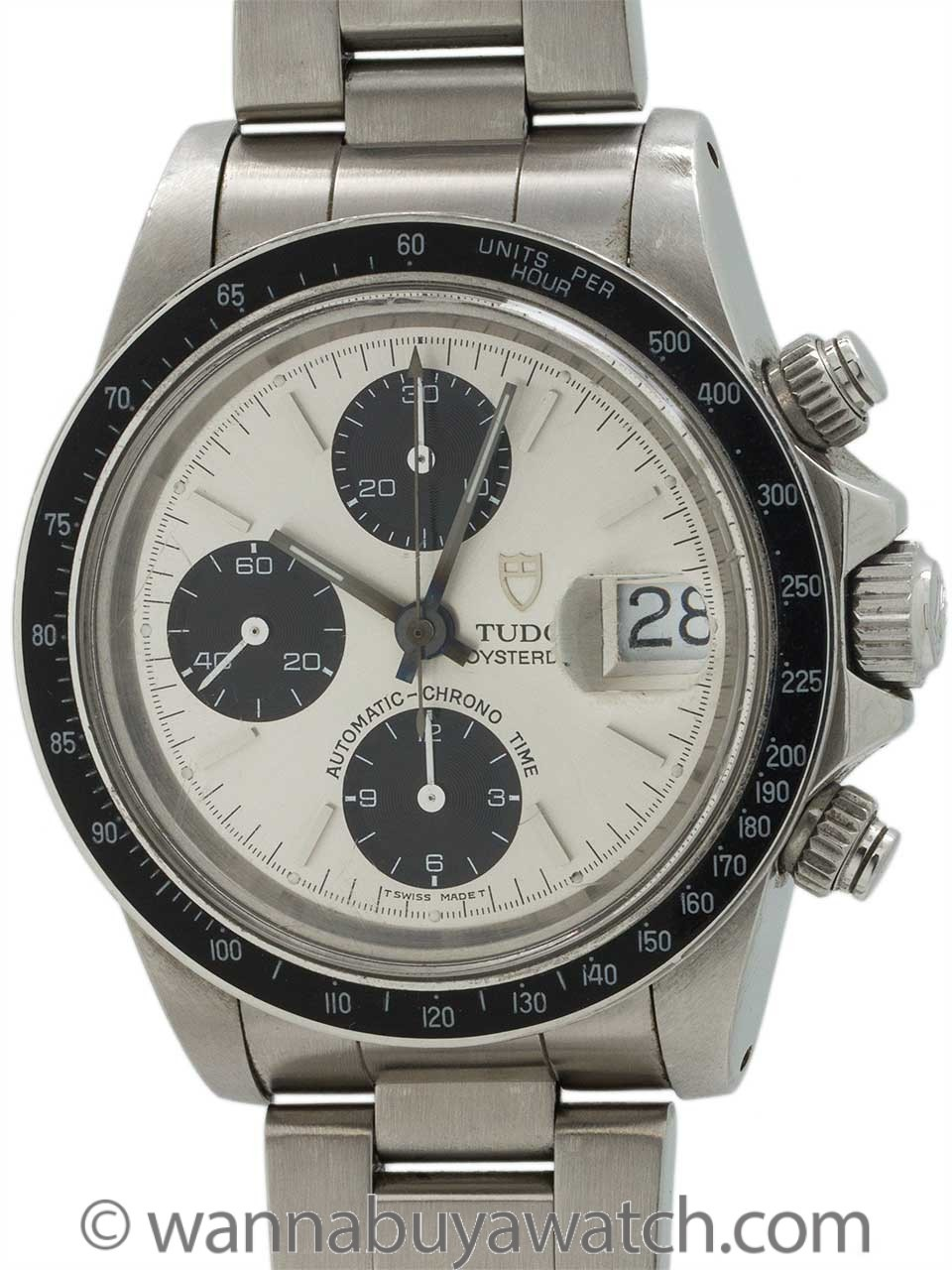 Tudor Oyster Big Block Chronograph ref 79160 circa 1994 Box & Papers