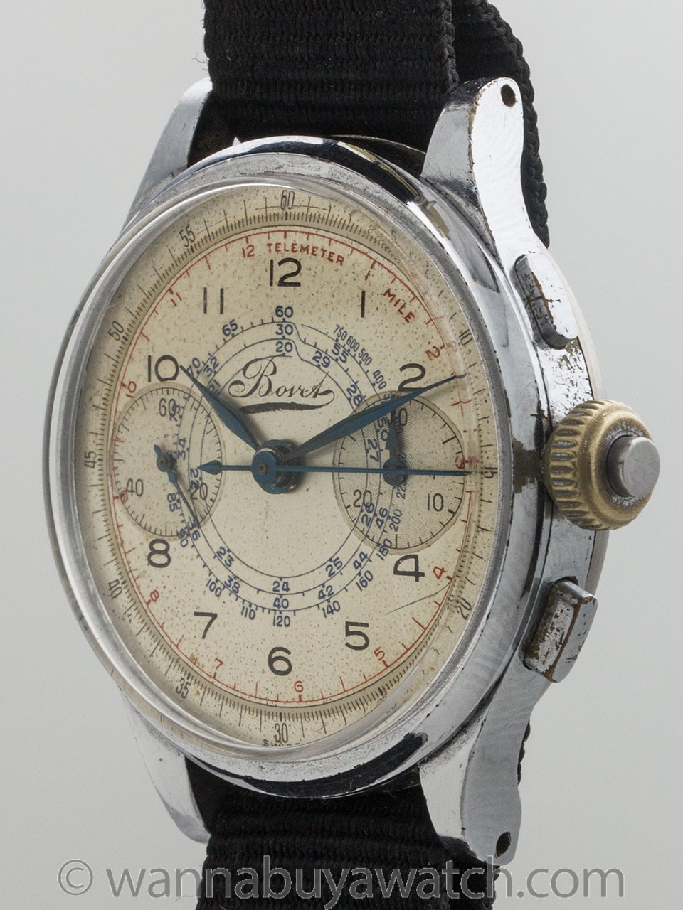 Bovet Miltary Chronograph with Flyback circa 1940's