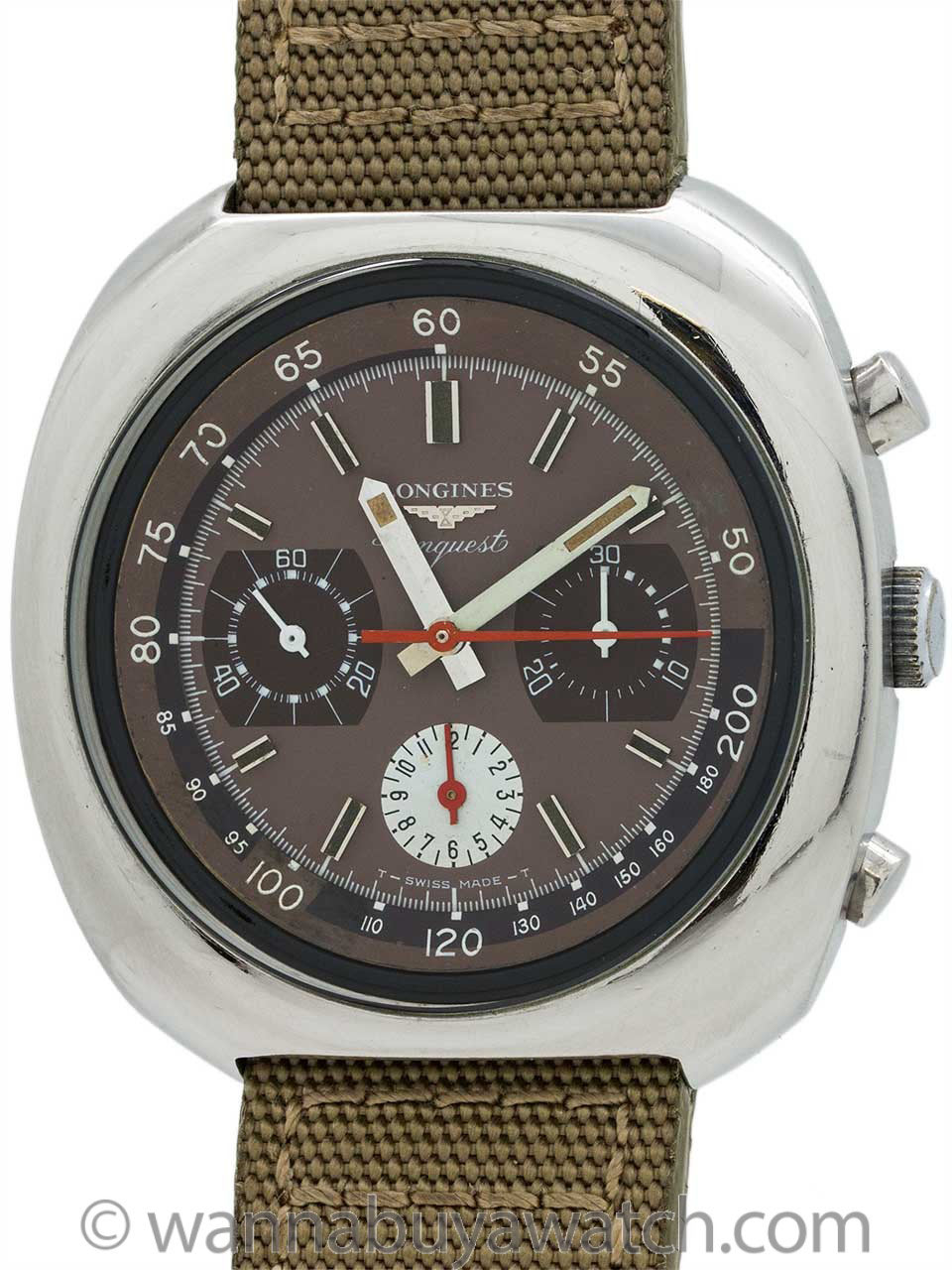 Longines Conquest Cushion Shaped Chronograph circa 1970