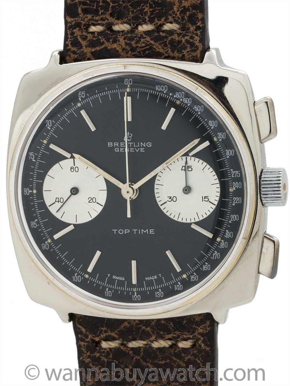 Breitling Top Time Chronograph Reverse Panda circa 1960's