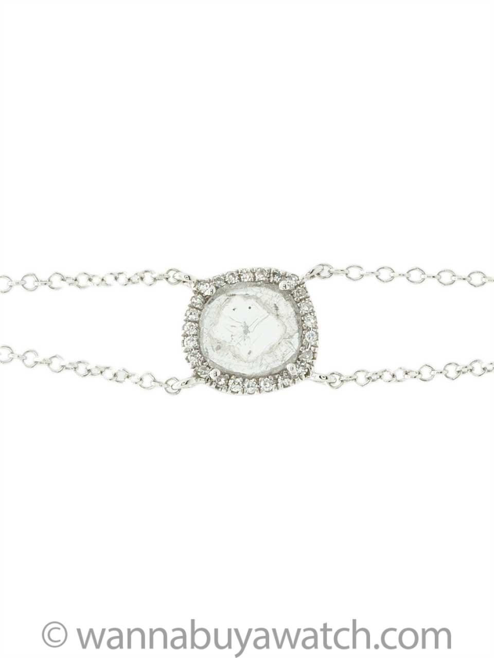 14K WG Diamond Slice Bracelet