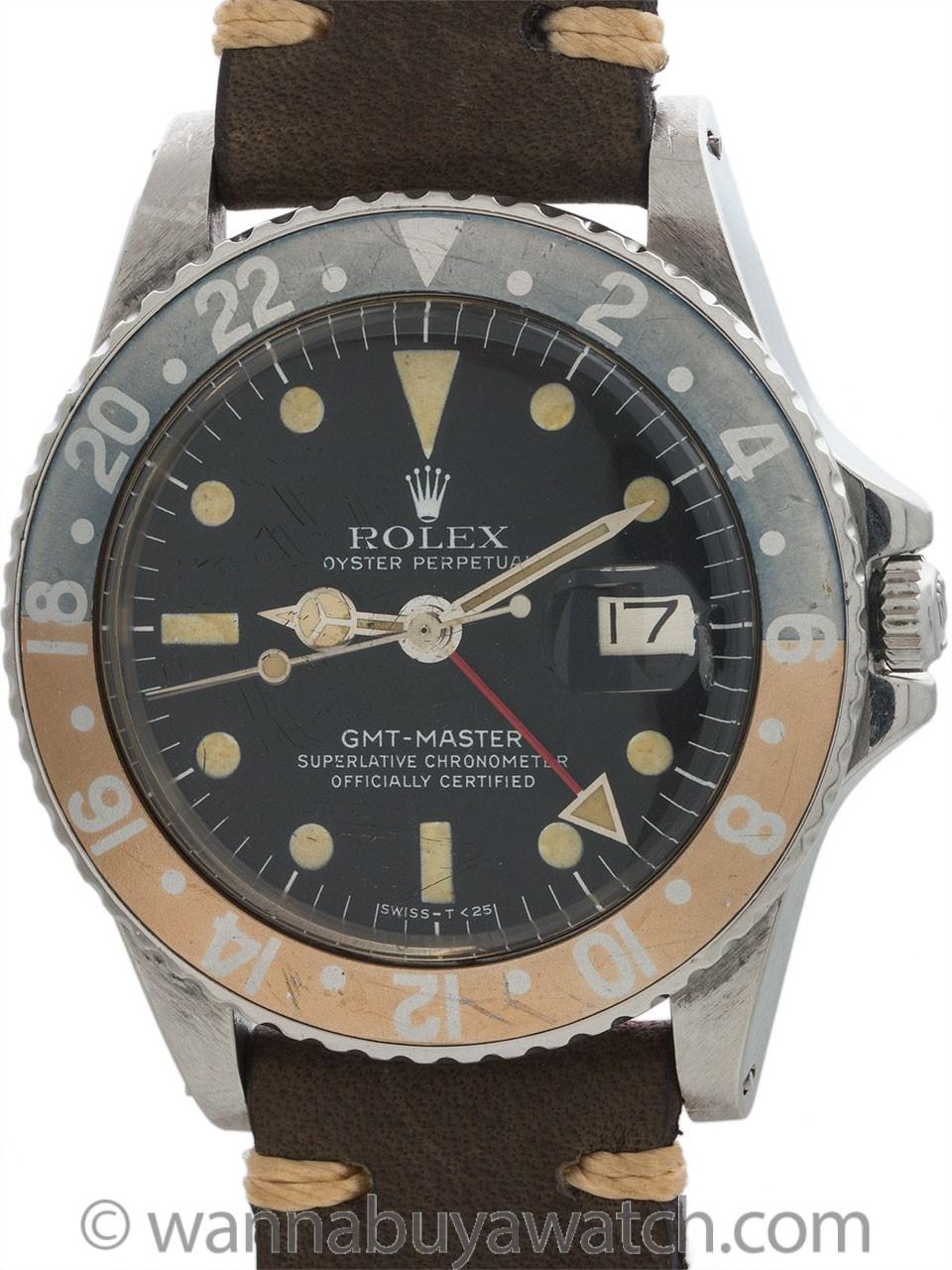 Rolex GMT Master ref 1675 circa 1968