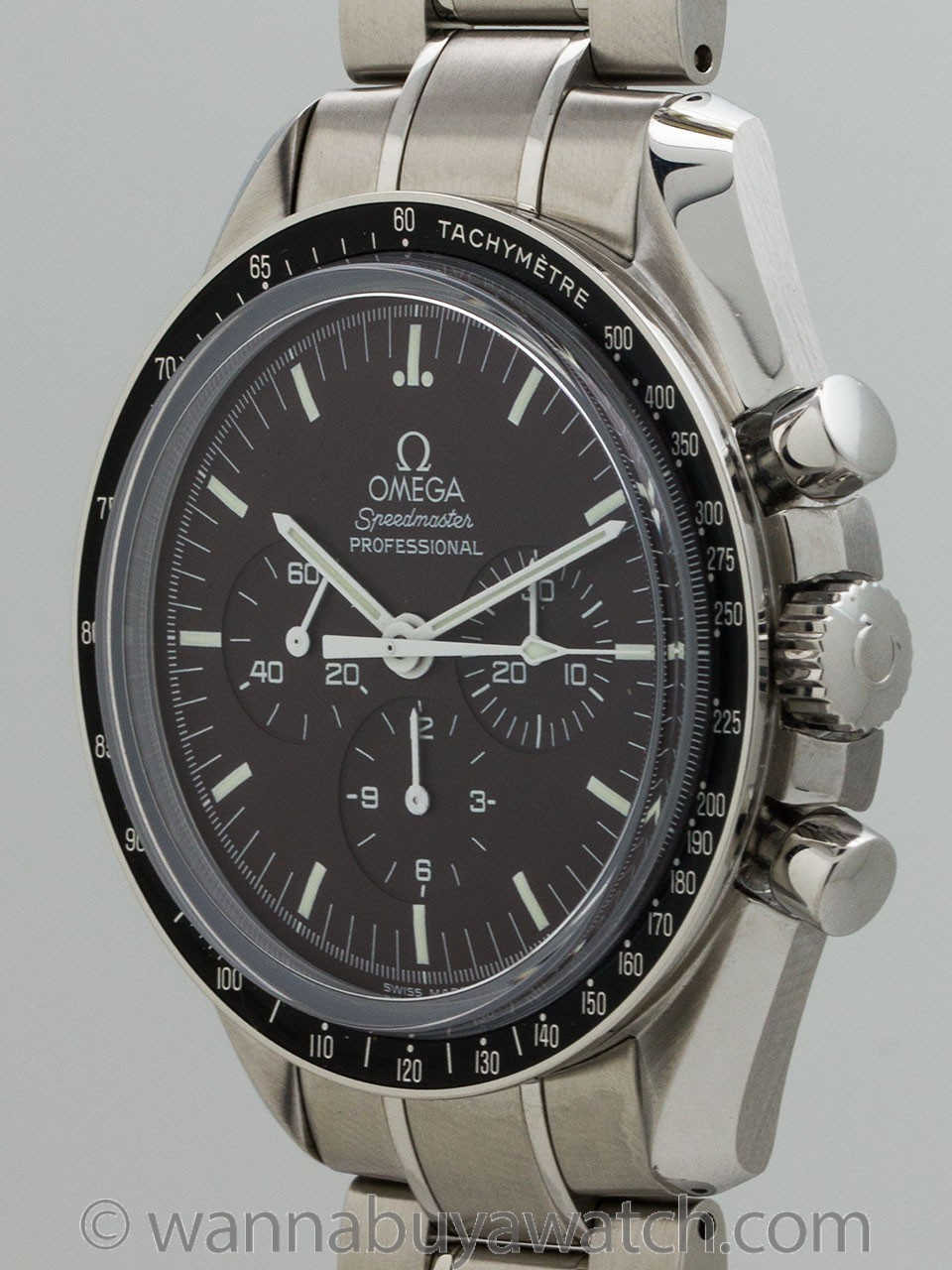 "Omega Speedmaster Man on the Moon ""Chocolate"" Display Back circa 2000s"