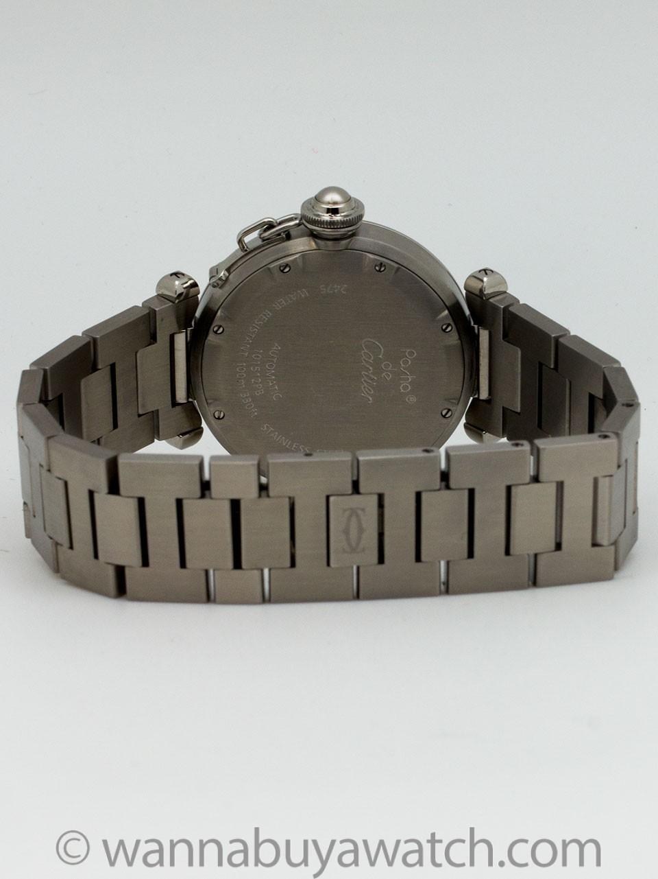 "Cartier Pasha C ""Big Date"" Stainless Steel circa 2000s"