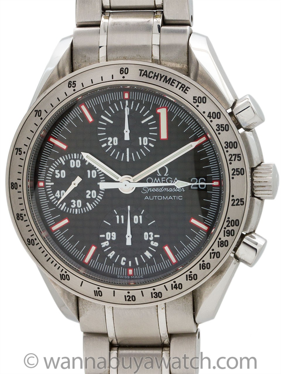 Omega Speedmaster Automatic Racing Michael Schumacher circa 2001
