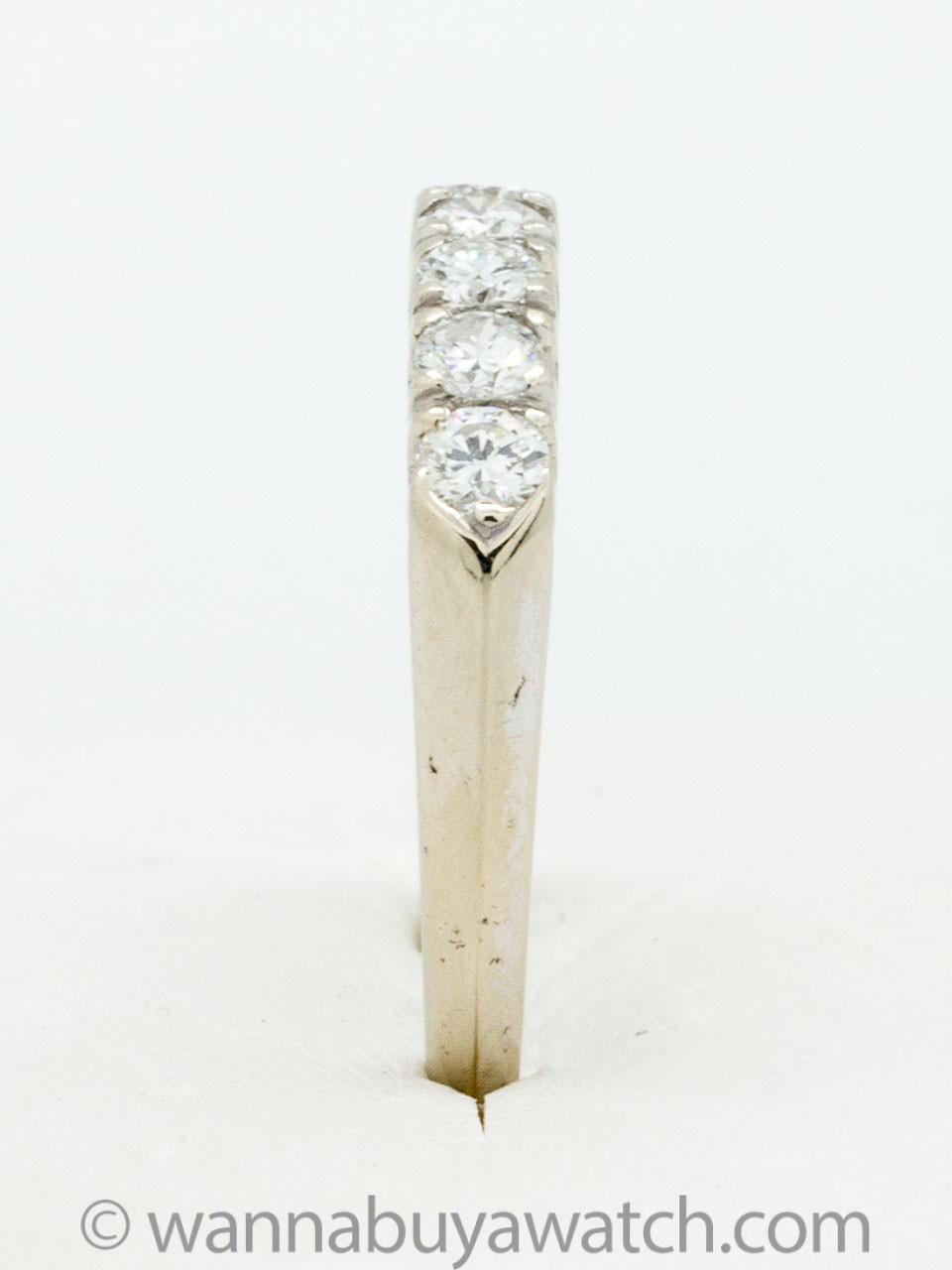 Vintage 14KW Diamond Band 0.50ct F-G/VS circa 1950s