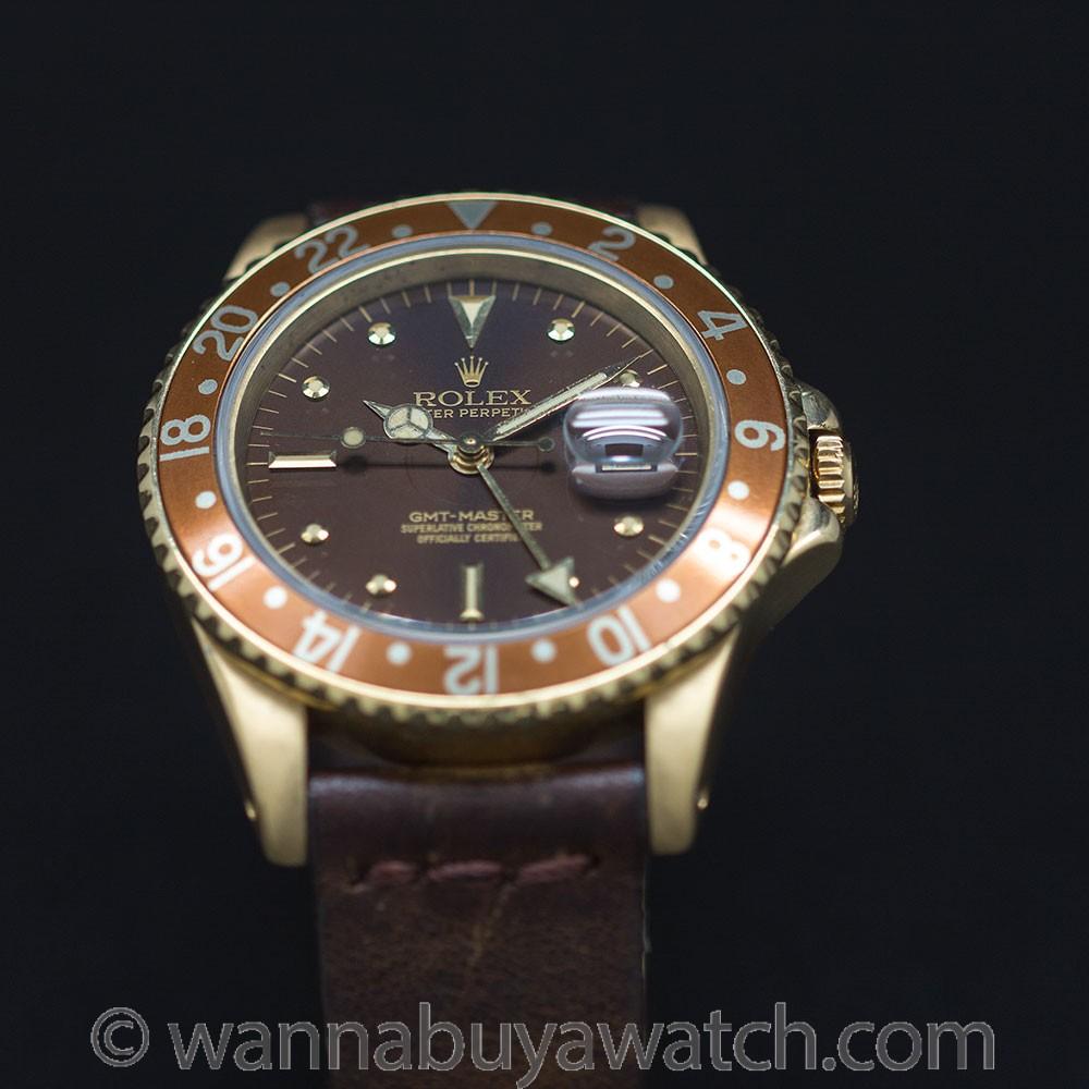 Rolex GMT ref 16758 18K YG circa 1985
