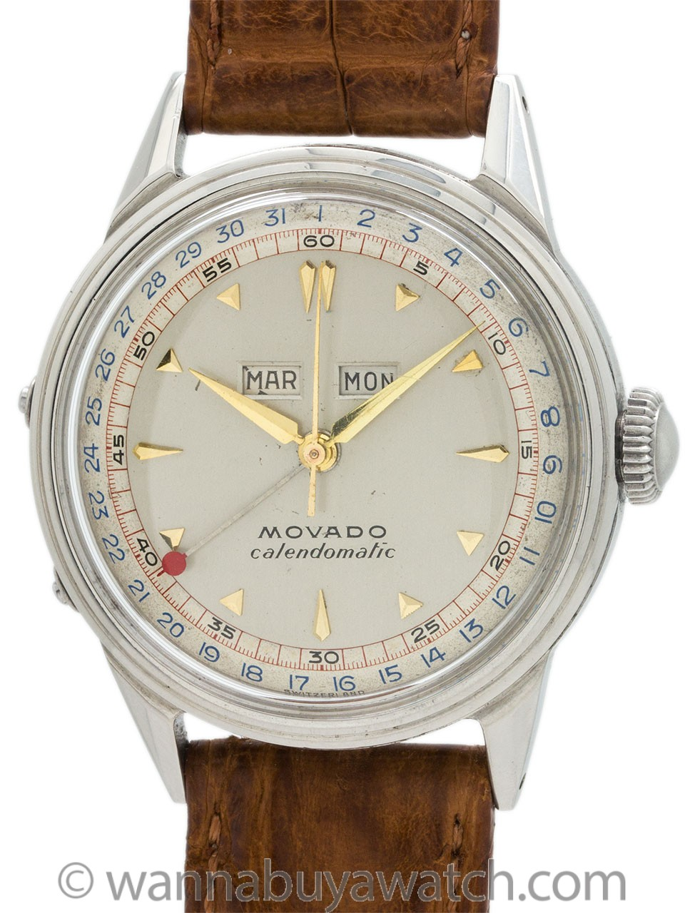 Movado Calendomatic Stainless Steel circa 1950's