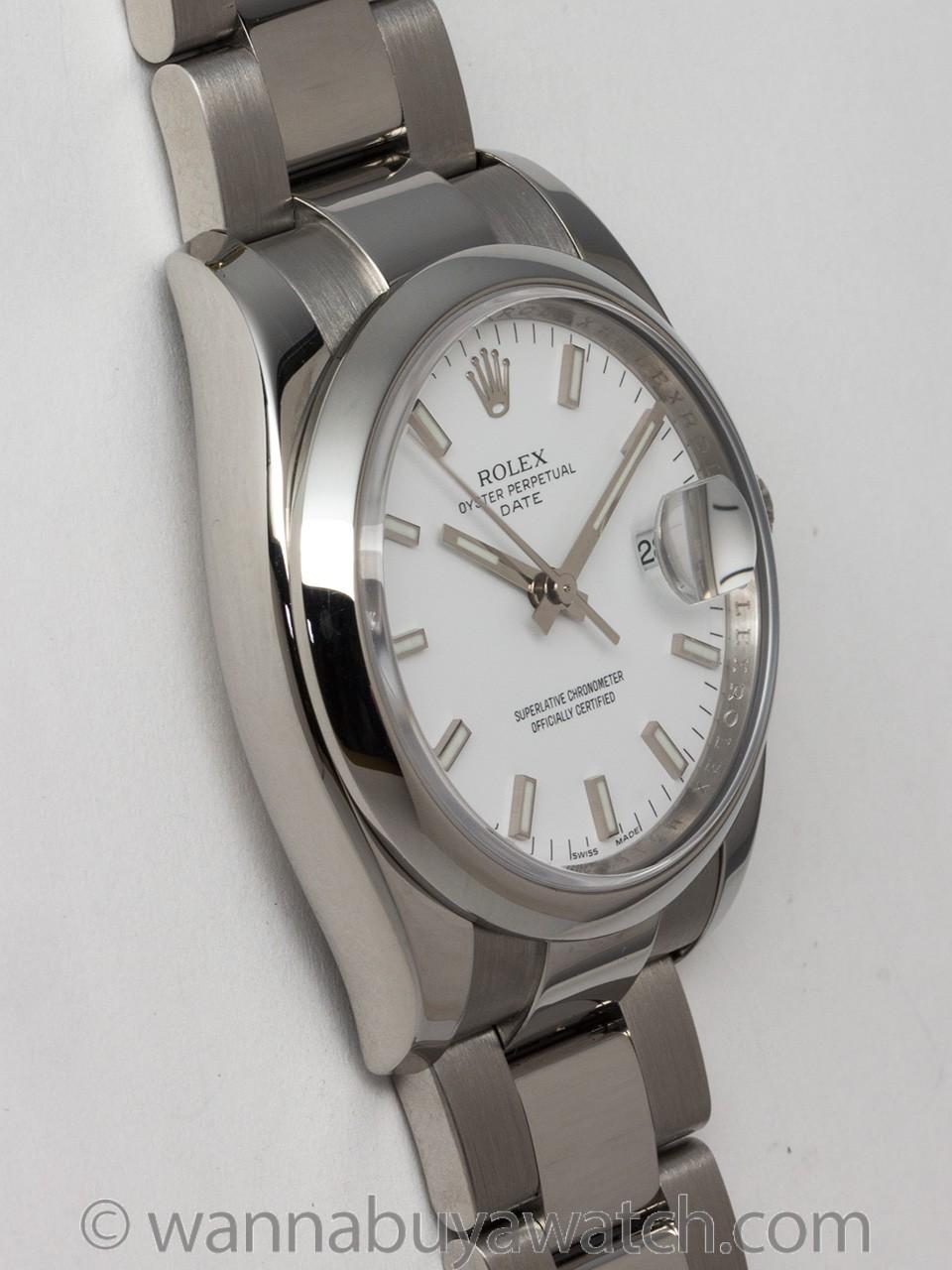 Rolex SS Oyster Perpetual Date ref 115200 circa 2007