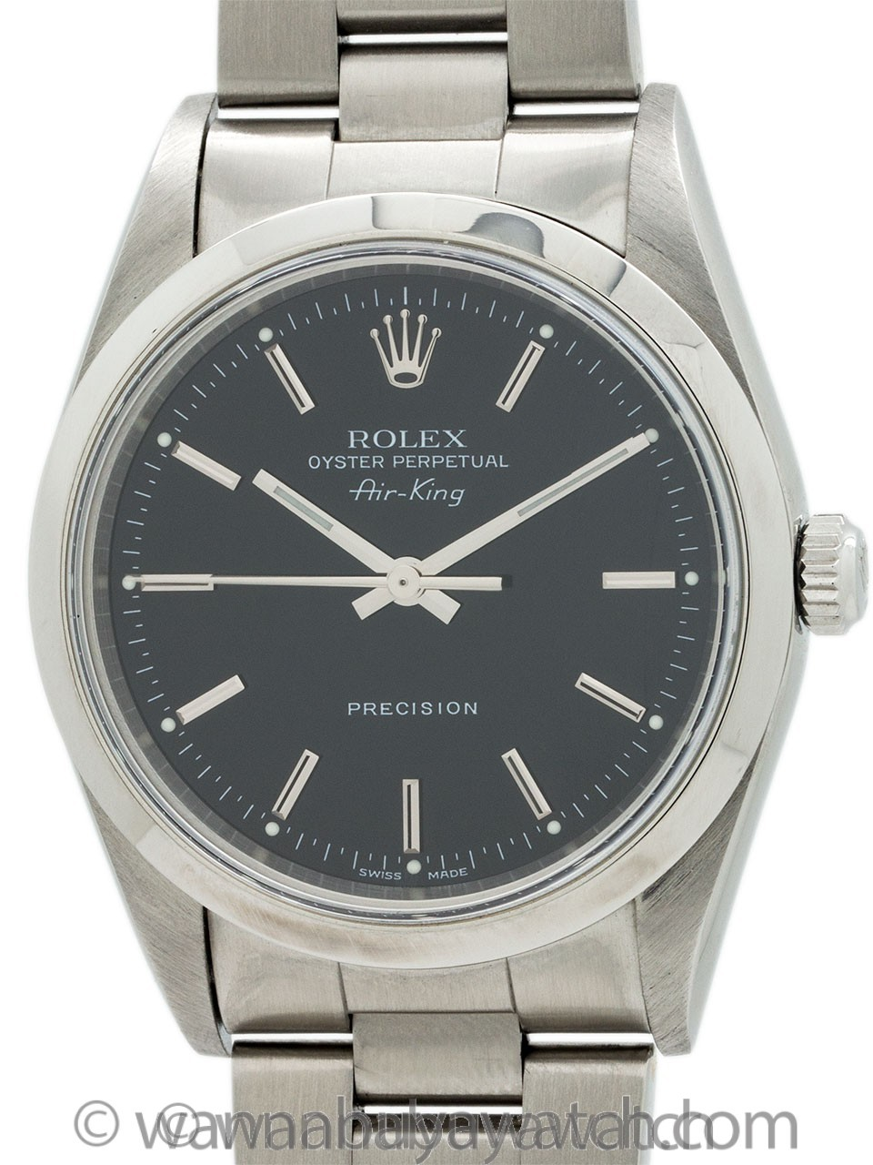 Rolex SS Oyster Perpetual Airking ref 14000 circa 2001